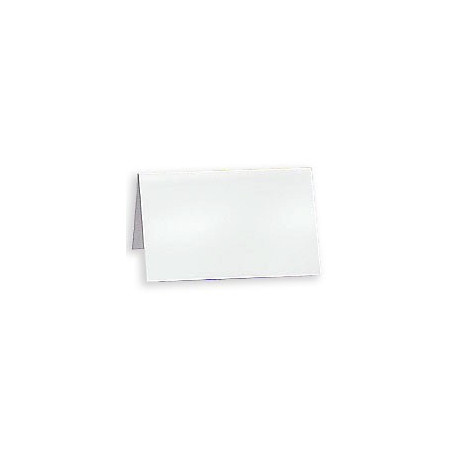 White folding card