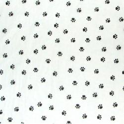 White paw print paper