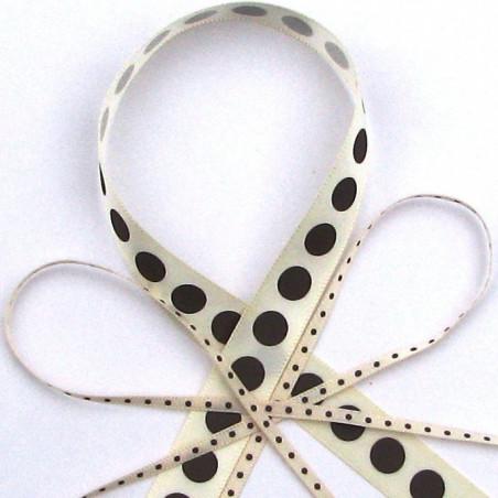 Ivory choc dot ribbon
