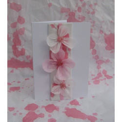 Pink flower card
