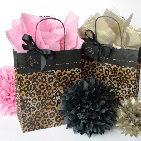 Leopard party bags