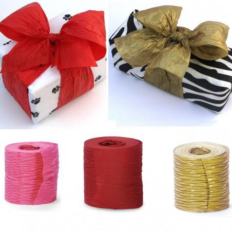 Coloured crinkle ribbon