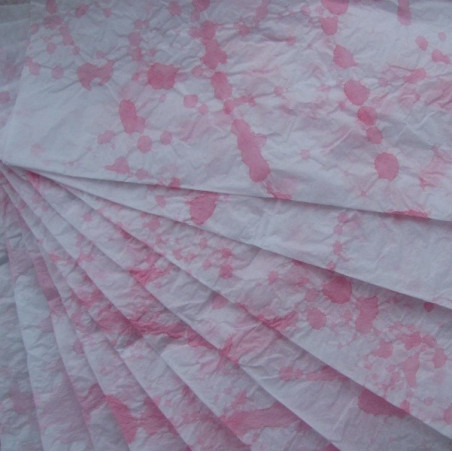 Hand dyed paper