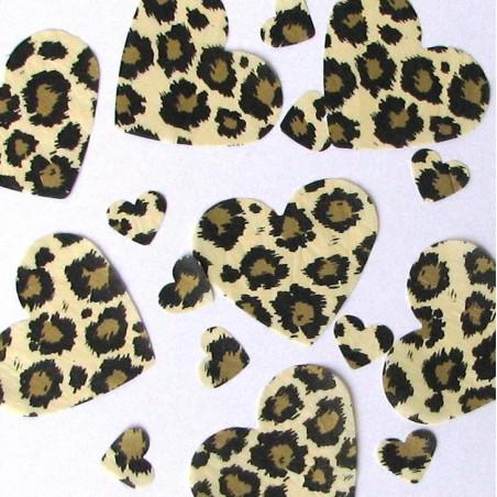 Gold leopard table confetti