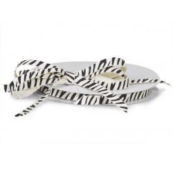 Zebra cotton ribbon