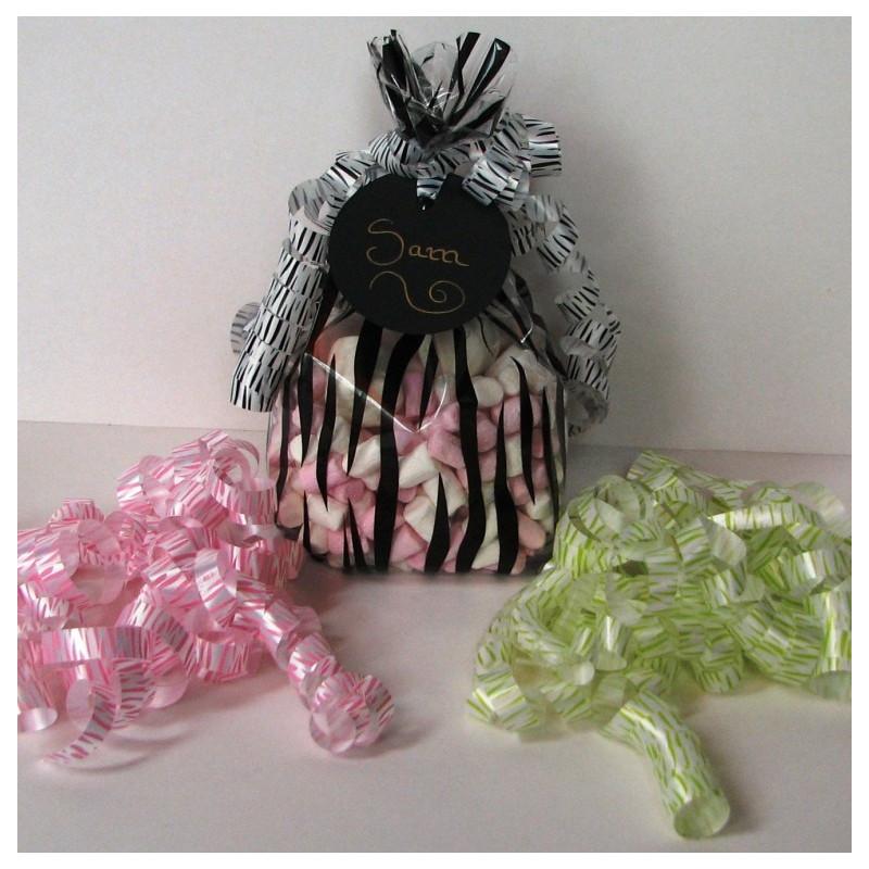Zebra cello party bags