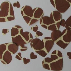 Giraffe table confetti