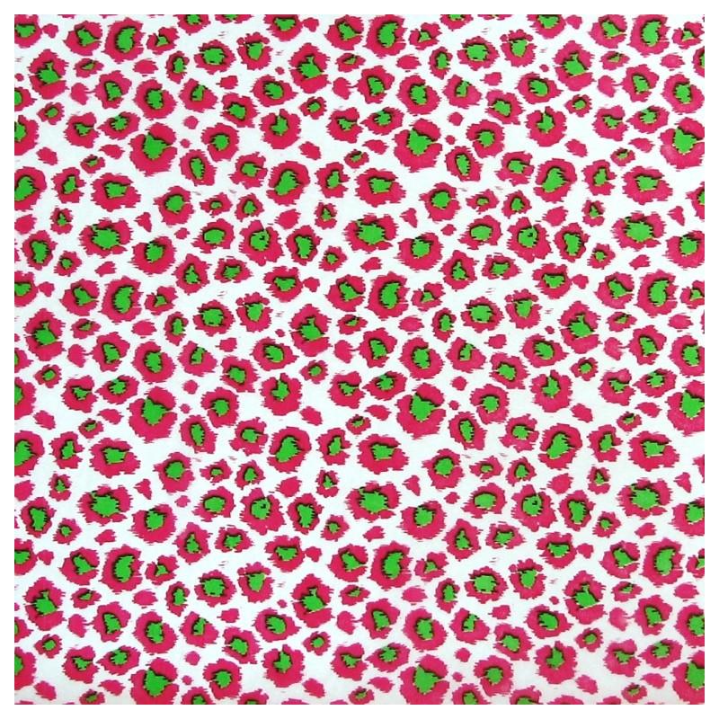 Pink leopard tissue