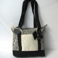 Zebra Canvas Bag