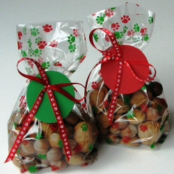Christmas Paws party bags