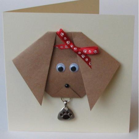 Puppy dog charm card