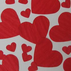 Red heart table confetti