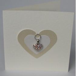 Heart charm card