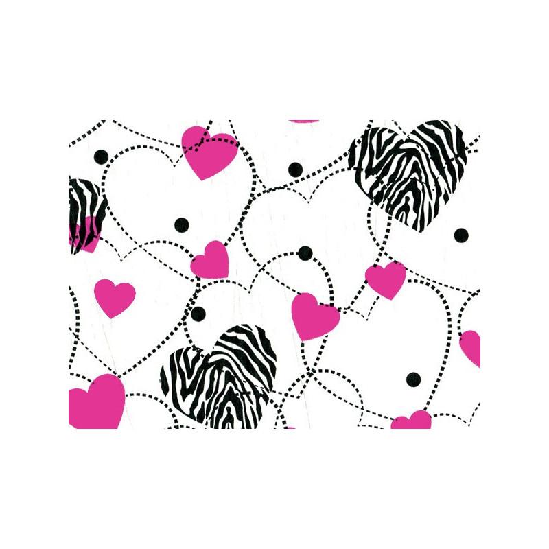 Pink zebra heart tissue