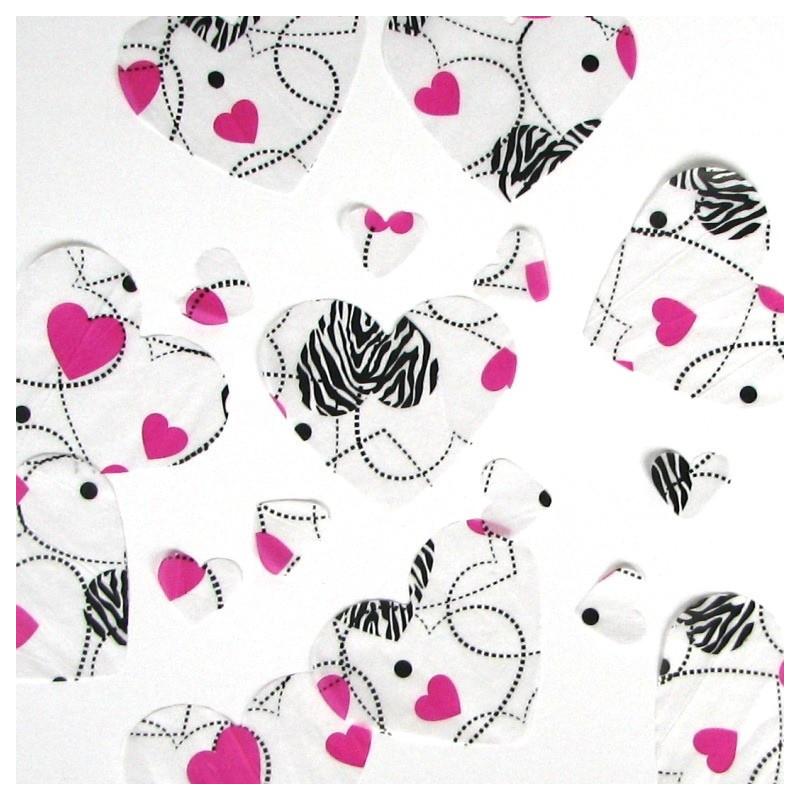 Zebra table confetti
