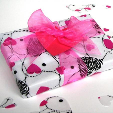 Pink zebra heart gift pack