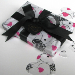 Paw print cotton ribbon