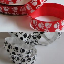 Hight gloss Paw print ribbon