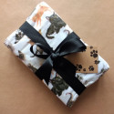 Leopard satin ribbon